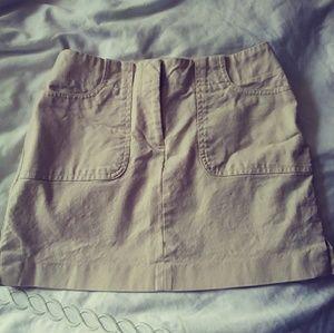 Express Khaki Mini Skirt in Size 1/2